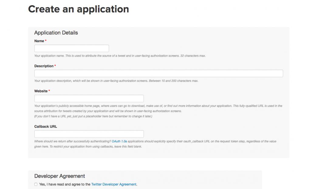 Create an application form
