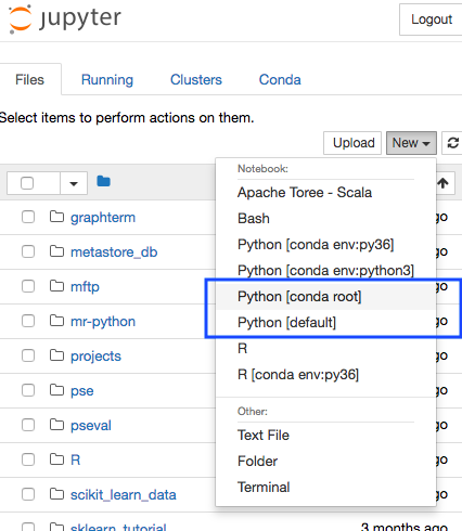 Selecting Python Environment