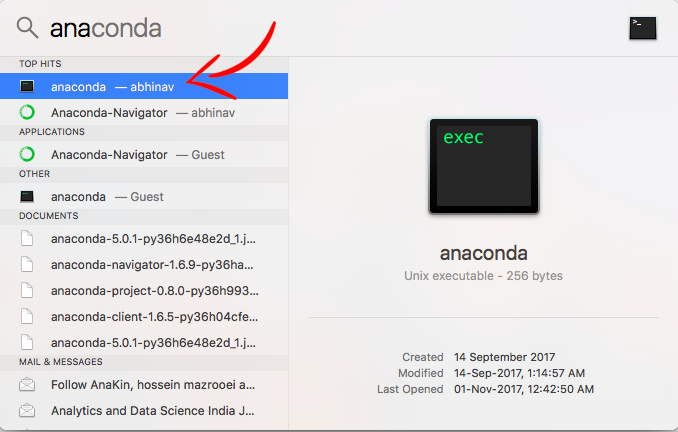 Anaconda Command Line Mac