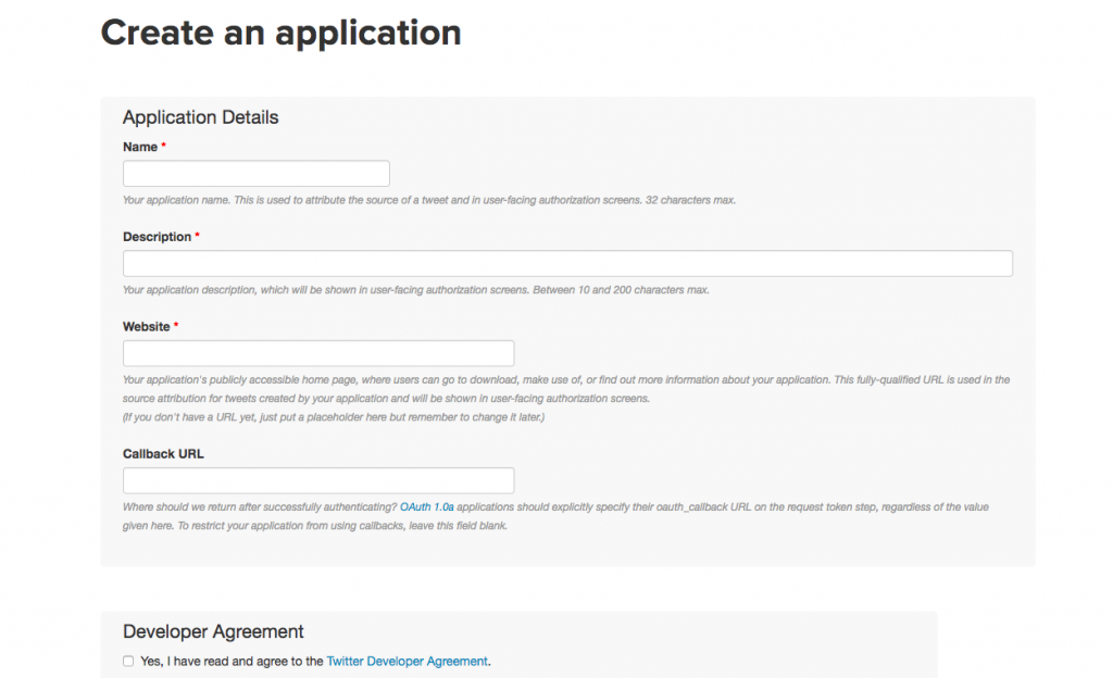 Create an application form